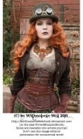 Steampunk Lady Stock 001 by MADmoiselleMeliStock
