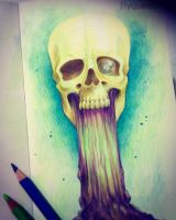 Trippy Skull by FlyQueen