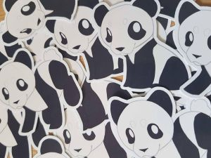 Panda Stickers by EllesDoodleBox
