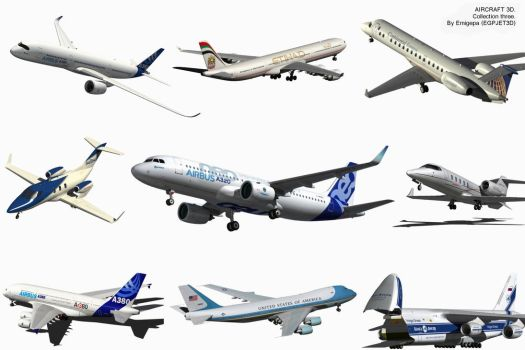 Aircraft 3D collection three. by Emigepa