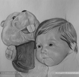 baby and friend WIP by BlueAngel271183