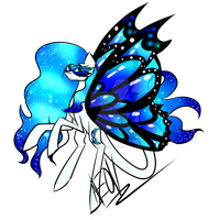 (MLP) Masquerade Butterfly Adopt (CLOSED) by Changeling-Neon