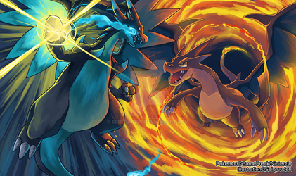 The Ultimate Mega Showdown: Charizards by seiryuuden