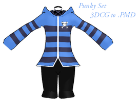 MMD- Punky Set -DL by MMDFakewings18