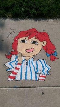 Wendy Chalk Drawing by MrCTeddy