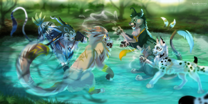 Splashing Battle by LeoKatana