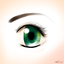 Daily Art Challenge 211: Anime Eye by SnowCrasher