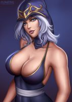 Ashe - League of Legends by Flowerxl