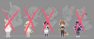 [CLOSED] Chibi Adopts + Portraits 1 by Valkymie