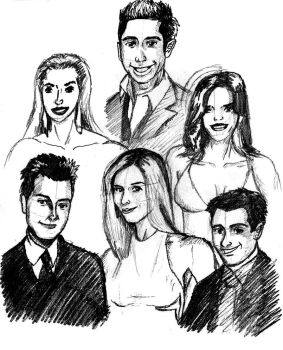Friends sketch by deanfenechanimations