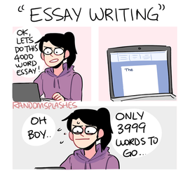 ESSAY WRITING by Randomsplashes