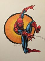 Spider-Man going 'thwip' by amonkeyonacid