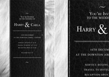 PSD Wedding Invitation Template by quickandeasy1