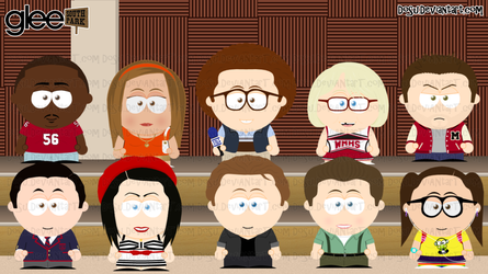 Glee Goin to South Park 3 by Dosu