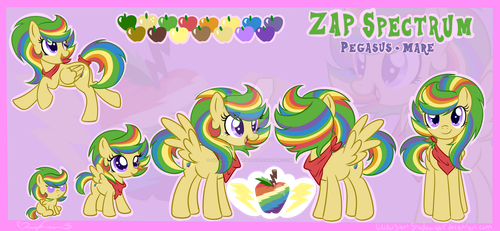 Zap Spectrum (Simple Canon Style Reference Sheet) by Silent-Shadow-Wolf