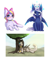 Sketch Commissions pack by LittleMoshi