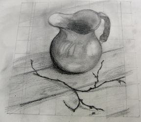 Drawing Exercise with grid, 4B pencil by KateHodges