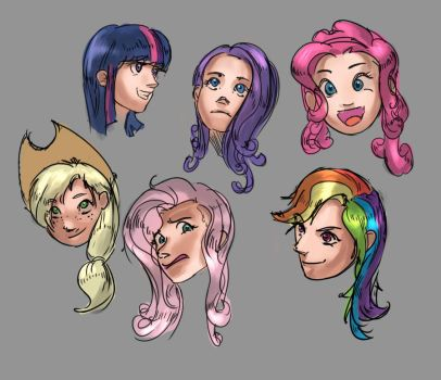 Human pony faces by ponyrake