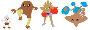 Tyrogue, Hitmonlee, Hitmonchan and Hitmontop Base