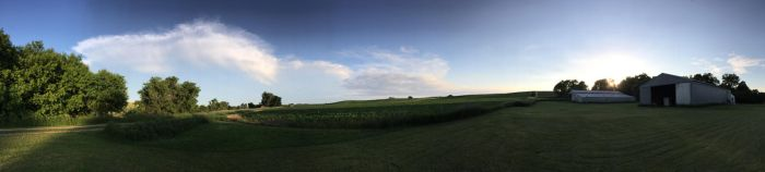 Farm summer wide panorama by jimmyselix