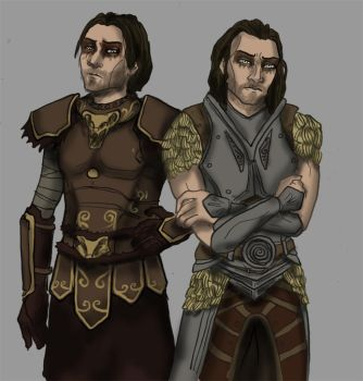 Vilkas and Farkas by LazyGreen