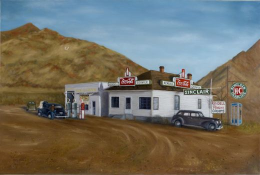 G. E. Kendell Store - Painting by Coi-kins