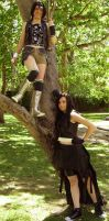Cosplay: Yuffie and Tifa by Risachantag