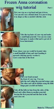Frozen Anna coronation wig tutorial by 77Flower77
