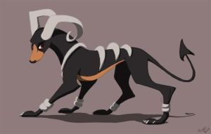 Houndoom by sketchinthoughts