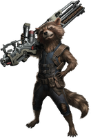 Avengers Infinity War - Rocket Raccoon PNG by DavidBksAndrade