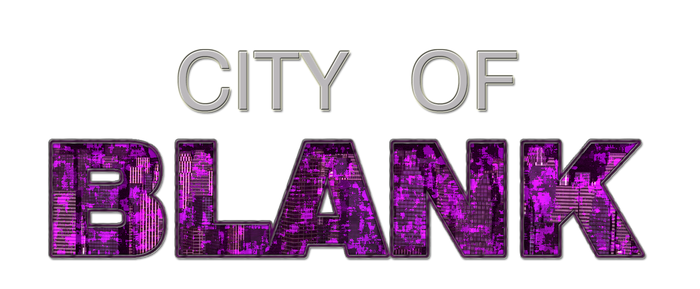 City of Blank - HQ Logo by CrimsonStrife