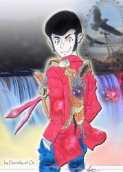 Lupin and the Rainbow Falls by Psychedelic-Factory