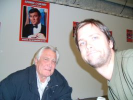 George Lazenby and me by EgonEagle