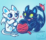 HTTYD Cute cat dragons by SarahRichford
