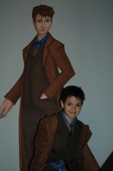Doctor Who Mural w. Cute Kid by exorcisingemily