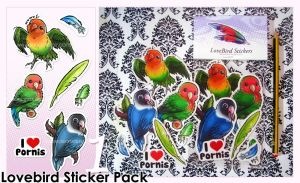 Lovebird Stickers -Pack 1- by Bea-Gonzalez