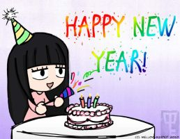 New Year's with Sawako by mell0w-m1nded