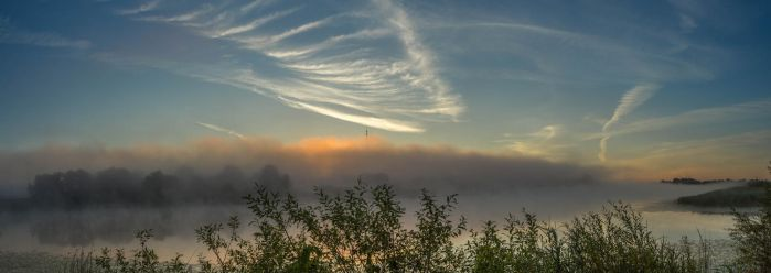 Mist River Panorama 02 by Artursphoto