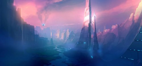 Speed Painting - Valley city by ANTIFAN-REAL