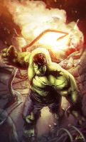 HULK IS ON FIRE by CharlyChive