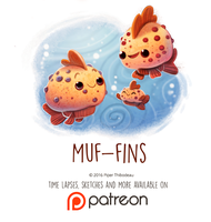 Daily Paint 1451. Muf-fins by Cryptid-Creations