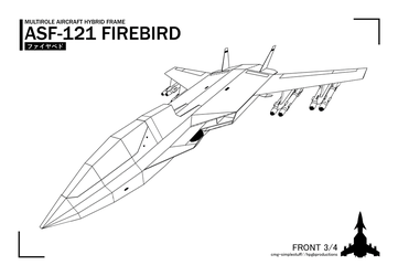 ASF-121 front lineart by CMG-simplestuff