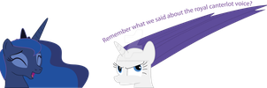 The royal canterlot voice!! by flutterfanUKOFE