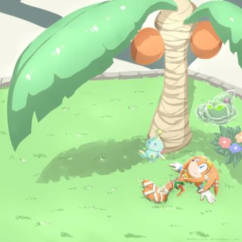 Background practice - Tikal and Chaos addition* by TwoBerries