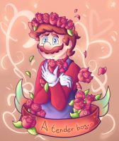 Flowers for a flower (With background) by Ninten6412XD