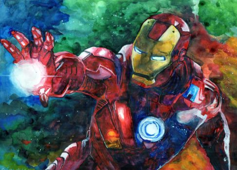 Iron Man Water Colour by chizzel