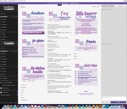 Twitch Channel Layout for LittleBearrr - draft by ciael