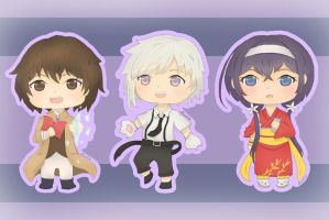 Bungou Stray Dogs - Chibi 1 by AlinaV26