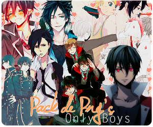 Pack PNG -Anime boys. by Fo-Nuinelli