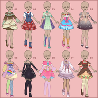 Outfits for sell [01]  [Open] by Sephiriah